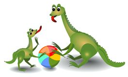 Cheerful lizard playing with ball Royalty Free Stock Photography