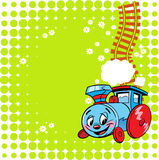 Cheerful locomotive cartoon Royalty Free Stock Photos