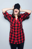 Cheerful madness. Royalty Free Stock Photos