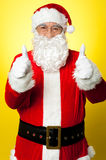 Cheerful male in Santa costume Stock Image