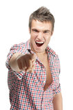 Cheerful malicious young man Royalty Free Stock Photography