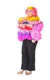 Cheerful man, Drag Queen, in a Female Suit Royalty Free Stock Images