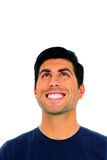 Cheerful man looking up Royalty Free Stock Photography