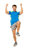 Cheerful Man Performing Zumba Dance Royalty Free Stock Photos