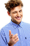 Cheerful man pointing at you Royalty Free Stock Images
