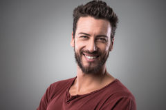 Cheerful man portrait Royalty Free Stock Photos