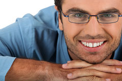 Cheerful man wearing eyeglasses Stock Image