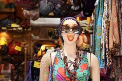 Cheerful mannequin Royalty Free Stock Photo
