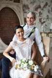 Cheerful married couple Stock Images