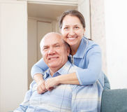 Cheerful mature couple in home Stock Photo