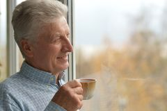 Cheerful mature man stock photography