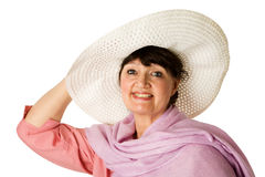 Cheerful mature woman royalty free stock photos
