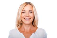 Cheerful mature woman. Stock Photos