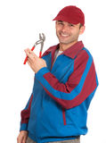 Cheerful mechanic Royalty Free Stock Photos