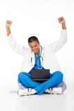 Cheerful medical intern Stock Images