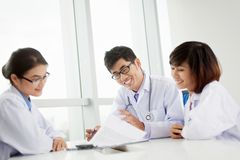 Cheerful medical team Stock Photography