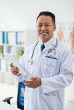 Cheerful medical worker Stock Photo