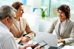 Cheerful meeting Stock Photography