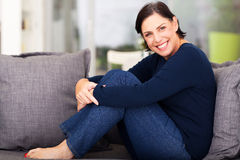 Cheerful middle aged woman Royalty Free Stock Image