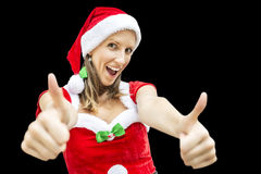 Cheerful miss Santa Royalty Free Stock Photo