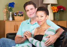 Cheerful Mixed Couple Stock Image