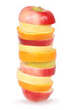 Cheerful mixed fruits Royalty Free Stock Photography
