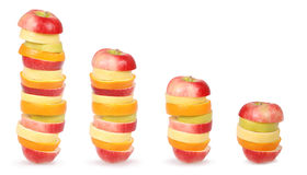 Cheerful mixed fruits Stock Image
