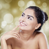 Cheerful model with soft skin Royalty Free Stock Photo