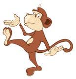 Cheerful monkey. Cartoon Stock Photo