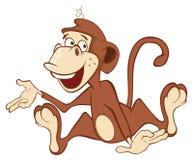 Cheerful monkey. Cartoon Royalty Free Stock Photography
