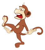 Cheerful monkey. Cartoon Royalty Free Stock Images
