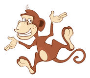 Cheerful monkey. Cartoon Royalty Free Stock Photos