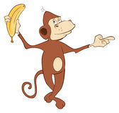 Cheerful monkey. Cartoon Stock Images