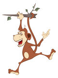 Cheerful monkey. Cartoon Stock Photography