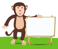 Cheerful monkey. Cartoon Stock Photos