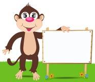 Cheerful monkey. Cartoon Stock Image