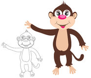 Cheerful monkey. Cartoon Stock Photography