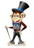 Cheerful monkey in dandy clothes Stock Photo