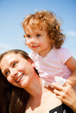 Cheerful mother and baby girl Royalty Free Stock Image