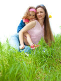 Cheerful mother and daughter Royalty Free Stock Images