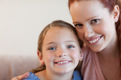 Cheerful mother and daughter Royalty Free Stock Image