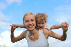 Cheerful mother and daughter Royalty Free Stock Photography