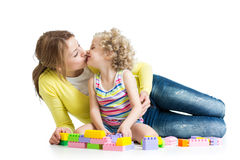 Cheerful mother and kid Royalty Free Stock Image