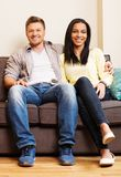 Cheerful multi-ethnic couple Royalty Free Stock Photos