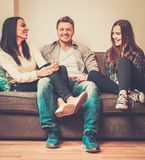 Cheerful multi-ethnic friends Stock Photography