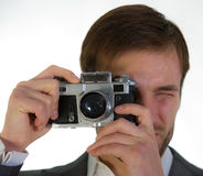 Photographer photographs Royalty Free Stock Image