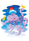 Cheerful octopus Stock Images