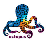 Cheerful octopus. royalty free illustration