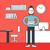 Cheerful office clerk. Stock Images