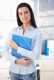 Cheerful office girl Royalty Free Stock Photography